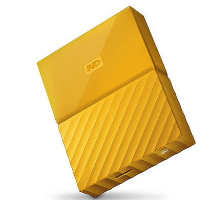 WD My Passport 2TB External Hard Drive (Yellow)